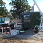 big green hempcrete machine
