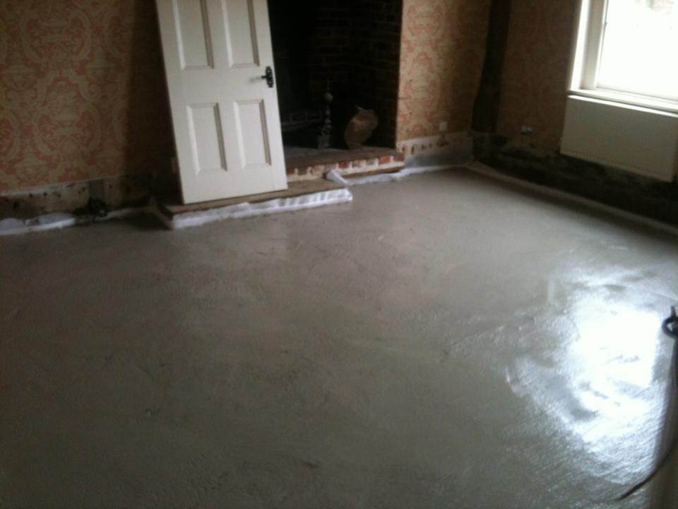 limecrete floor in Fordham Hall