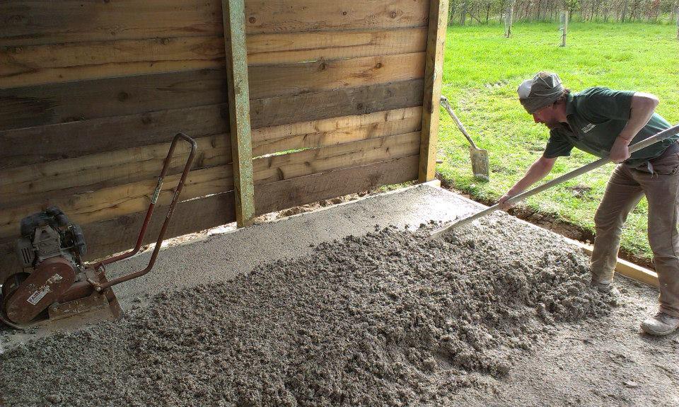 Hempcrete Floor At Ringsfield Eco Centre The Limecrete